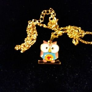 Cute Owl on gold color chain
